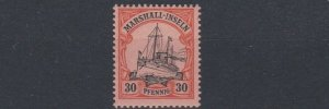 MARSHALL  ISLANDS 1901   S G  G16   30PF  BLACK & ORANGE   MNH