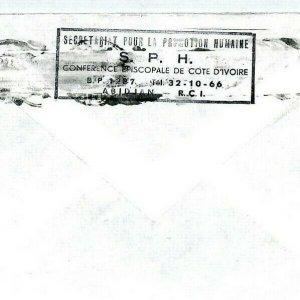 IVORY COAST Cover *Abidjan Plateau* Air Mail MIVA Missionary SPH Cachet CM200