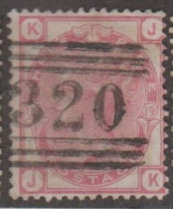 Great Britain Scott #61 Stamp - Used Single - Plate 19