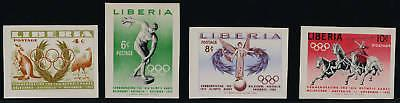 Liberia 358-61 imperf MNH Sports, Horse, Birds, Olympic