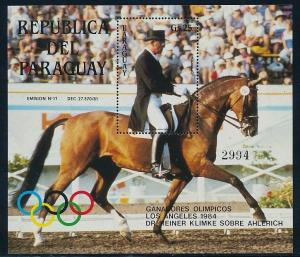 Paraguay - Souvenir Sheet Los Angeles Olympic Games 1984 Horsing - MNH
