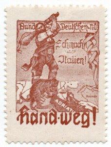 (I.B) Germany (Great War) Cinderella : Anti-Italian Propaganda (Hand-Weg!)