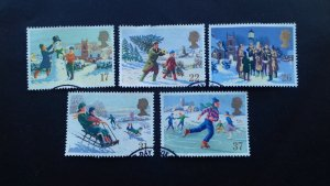 Great Britain 1990 Christmas Stamps Used