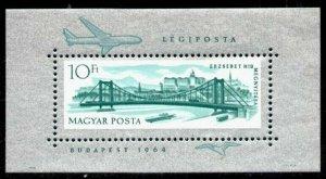 Hungary C250 MNH Aircraft, Elizabeth Bridge, Ship