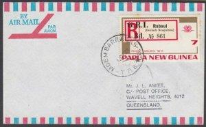 PAPUA NEW GUINEA 1973 cover ex MOEM BARRACKS................................M721