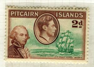 PITCAIRN ISLANDS; 1938 early GVI pictorial issue fine Mint hinged 2d. value