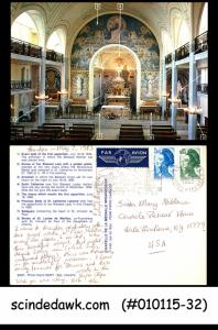 FRANCE - 1983 PICTURE POST CARD TO USA WITH STAMPS - AIR MAIL