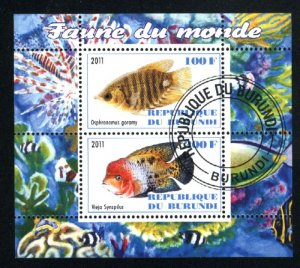 Burundi fish SS NH VF 2011 PD