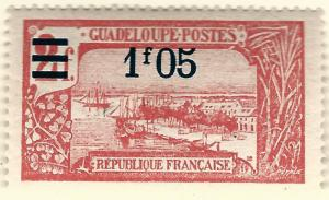 Guadeloupe (Scott #90) Overprint Mint OG VF hr...French Colonies are hot!