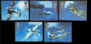 Great Britain 1997 Aircraft Designers  SC#1758-1762 Cancelled