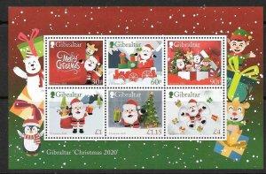 GIBRALTAR 2020 CHRISTMAS M/S MNH