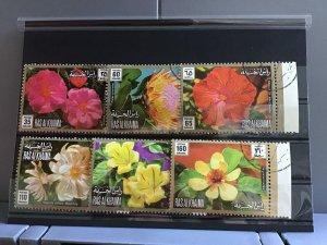 Ras Al Khaima Beautiful Flowers stamps R26123