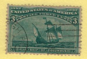 United States (U.S.) Stamp Scott #232, Used - Free U.S. Shipping, Free Worldw...