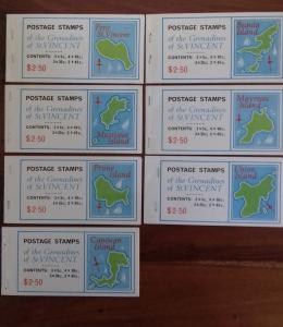 St Vincent 1976 Booklets x 7 Mint