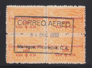 Nicaragua Sc C41 used 1932 16c on 20c orange Post Office, Central Cancel VF