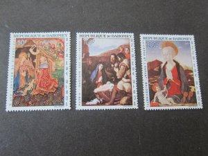 Dahomey 1966 Sc C46-8 Christmas Religion set MNH