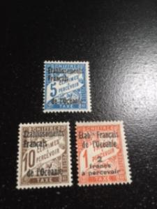 French Polynesia sc J1, J2 ,J7 MH
