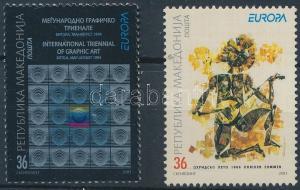 Makedonien stamp Europa CEPT poster art set MNH 2003 Mi 279-280 WS173114