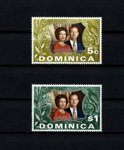 DOMINICA - 1972 - QE II - SILVER WEDDING ISSUE - MINT - MNH SET!