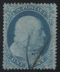 #18 Used - 80 Very Fine - Lite Cancel, SMQ $585 with Crowe Cert  (GD 9/24)
