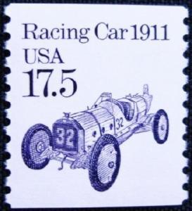 2262 Racing Car F-VF MNH transportation coil single
