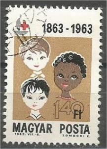 HUNGARY, 1963, used 1.40fo, Red Cross, Scott 1536
