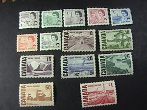 CANADA # 454 - 465B-MINT NEVER/HINGED---COMPLETE SET----1967-72