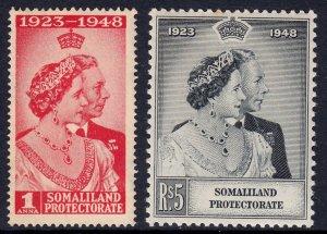 Somaliland Protectorate - Scott #110-111 - MH - Toning - SCV $7.00