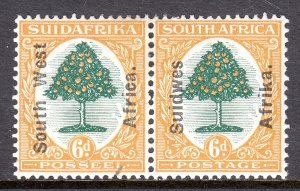 South West Africa - Scott #87e - MH - Rejoined, priced as singles - SCV $6.00