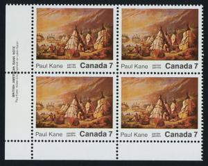 Canada 553 BL Plate Blocks MNH Art, Painting, Paul Kane