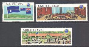 Nauru Scott 221/223 - SG232/234, 1980 UN De-colonization Anniv Set MNH**
