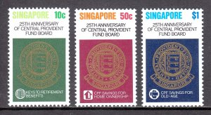 Singapore - Scott #353-355 - MNH - SCV $2.40