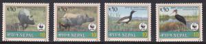Nepal, WWF, Fauna, Animals, Birds MNH / 2000