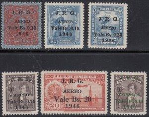 Venezuela 1947 J.R.G. Complete Set. MNH unmounted. Scott C223-227, SG 733-737.