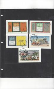 Scotland - Staffa 5 Various Deluxe Souvenir Sheets  CTO O/G NH