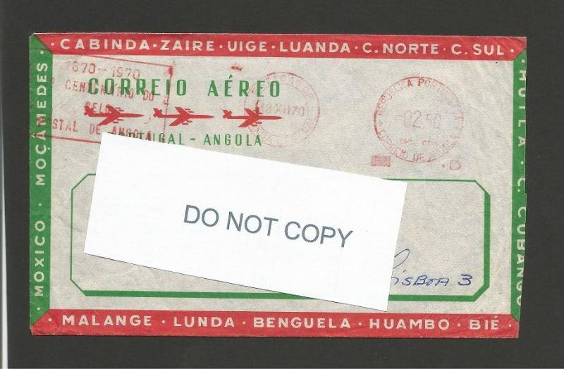AIR MAIL LETTER ANGOLA COREIO AÉREO year1970 LUANDA  AFRICA AFRIQUE AFRIKA Z1