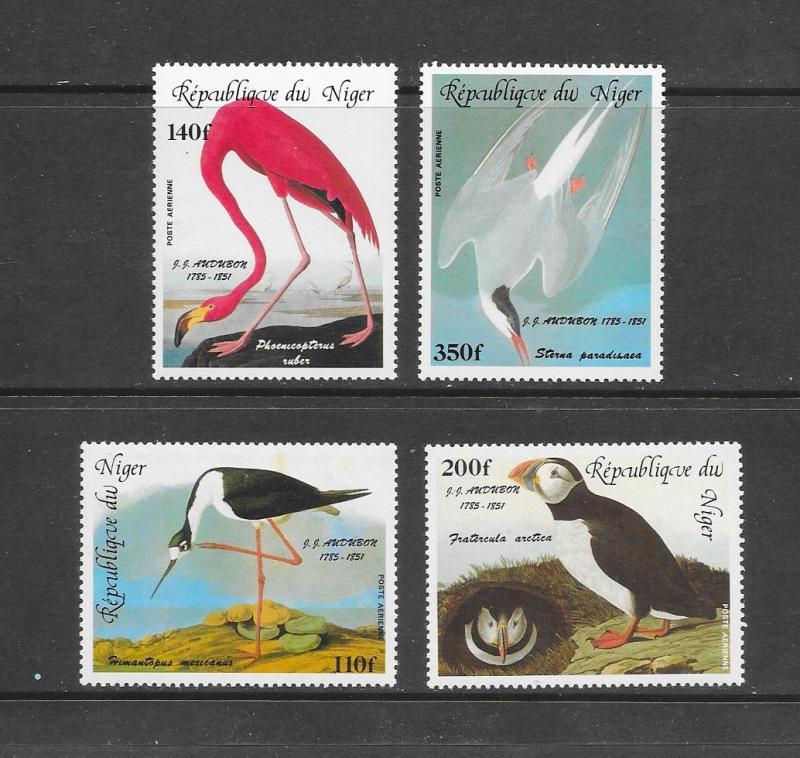 BIRDS - NIGER #C352-55 AUDUBON  MNH