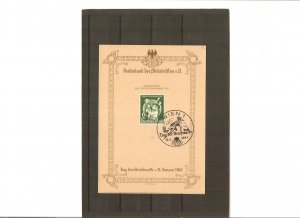 Germany, Memory card for Stamp Day 1941 by famous designer Meerwald