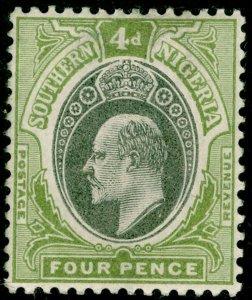SOUTHERN NIGERIA SG14, 4d grey-black & olive-green, LH MINT. WMK CA