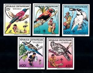 [77232] Central African Rep. 1988 Scouting Birds Vögel Oiseaux Imperf. Set MNH