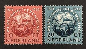 Netherlands 1949 #323-4, UPU, MNH.