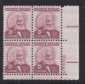 1290  25c - FREDERICK DOUGLASS - PB# 28940 LR - MNH CV*: $5.50 - LOT 1238