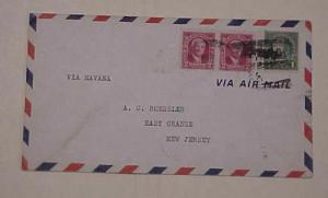 CANAL ZONE COVER  ROESSLER COCO SOLO 1928 OCT 1 B/S NEW ORLEANS