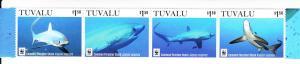 2016 Tuvalu Common Thresher Shark WWF S4 (Scott 1363) MNH