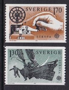 Sweden  #1278-1279   MNH  1979  Europa  postal history mail boat  telegraph