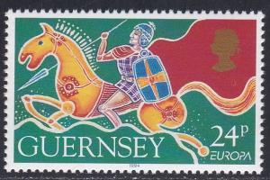 Guernsey # 526, Europa '94, Warrior on Horseback, NH, 1/2 Cat.