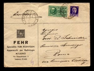 Italy 1941 Express Cover to Rome / Commercial Cachet - L11075