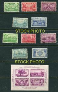 785-794 complete mint set of 10 - the 1936 Army Navy issue. SS +778  Exp