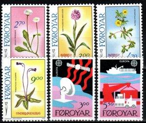 Faroe Islands #169-74  MNH  CV $8.40 (X8467)