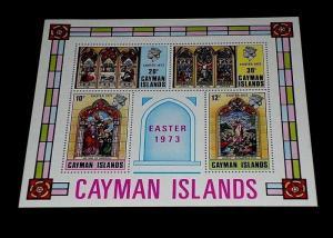 CAYMAN ISLANDS #313a, 1973, EASTER, SOUVENIR SHEET, MNH, NICE LQQK